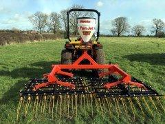 3m Grass Harrow with Stocks Fan Jet Seeder