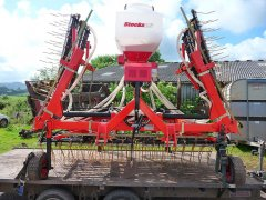 6m Grass Harrow with Stocks Turbo Jet Seeder